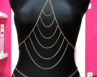 Body Chain Bra Gold Lolita choise your own size