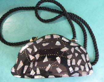 Abalone and Lucite Evening Purse 1960's