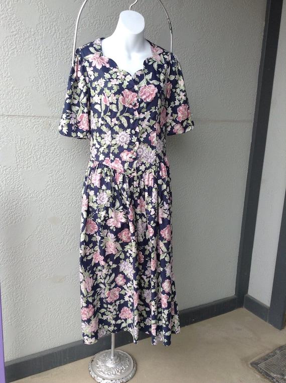 Vintage 1980s Laura Ashley dress