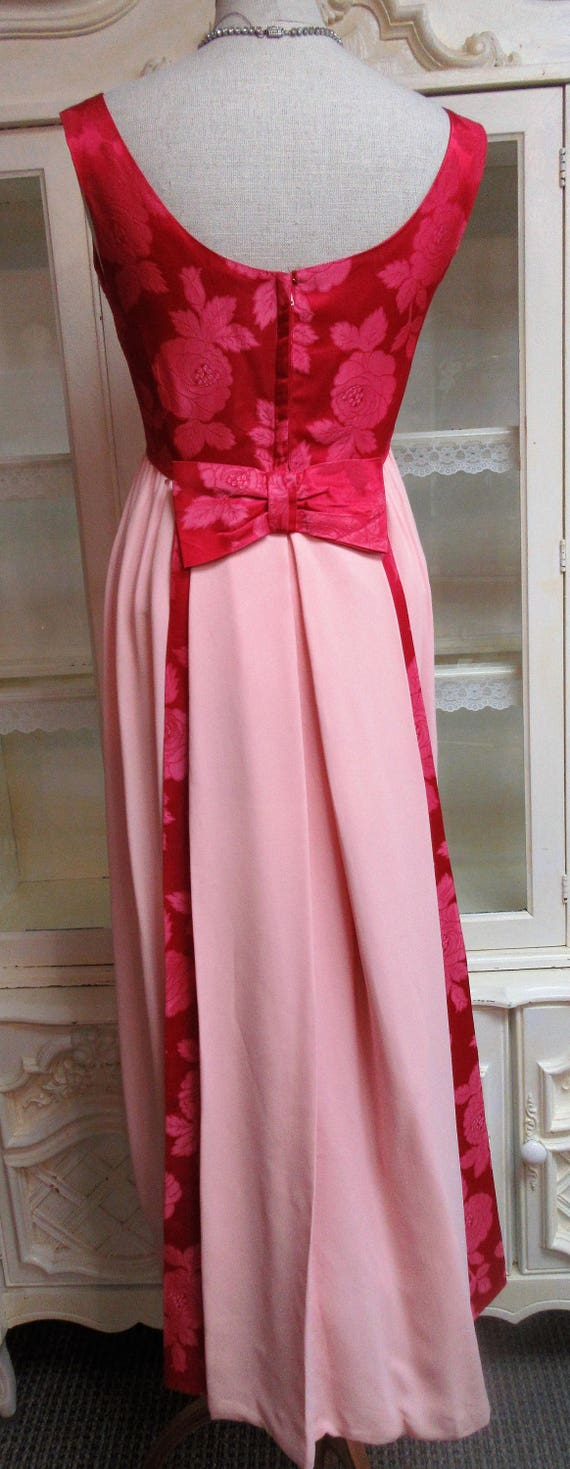 1960s Prom Bridesmaid Dress with train - image 4