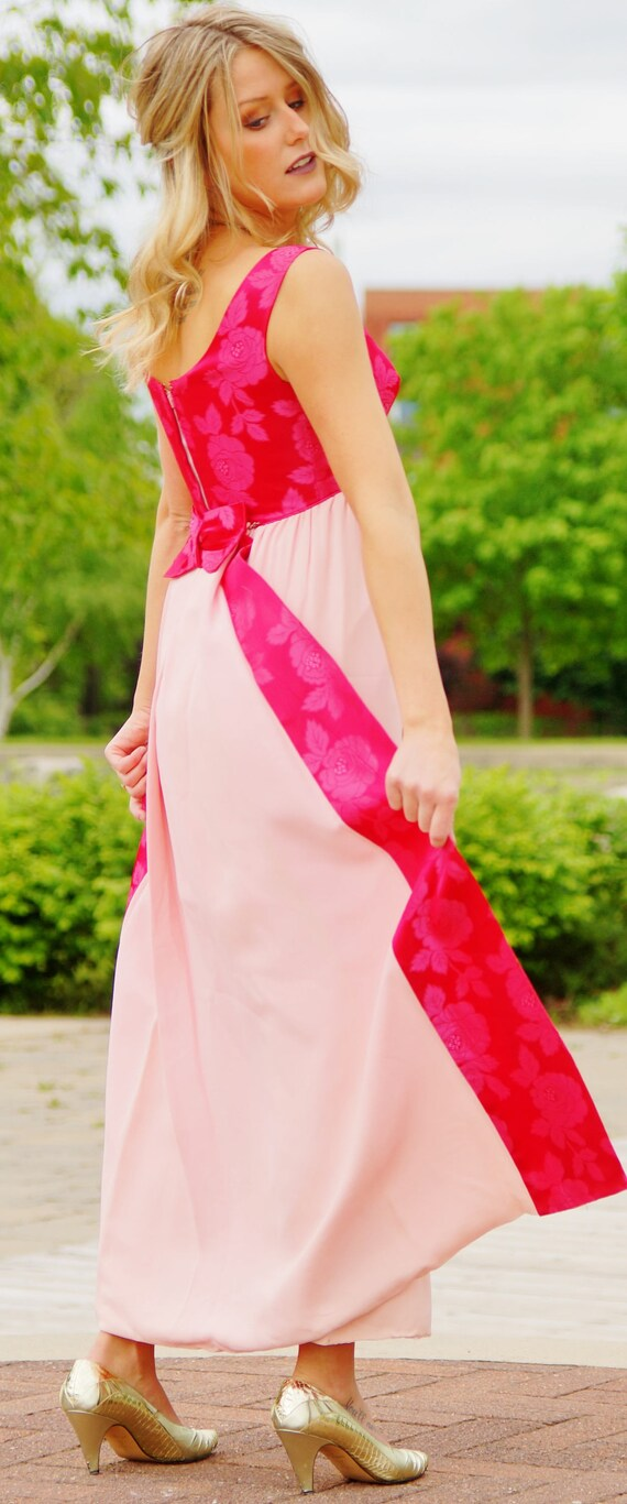 1960s Prom Bridesmaid Dress with train - image 2