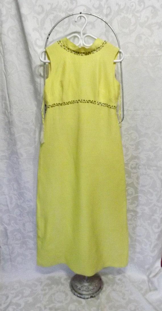 Vintage 1960s Handmade Formal Gown Spring Florals
