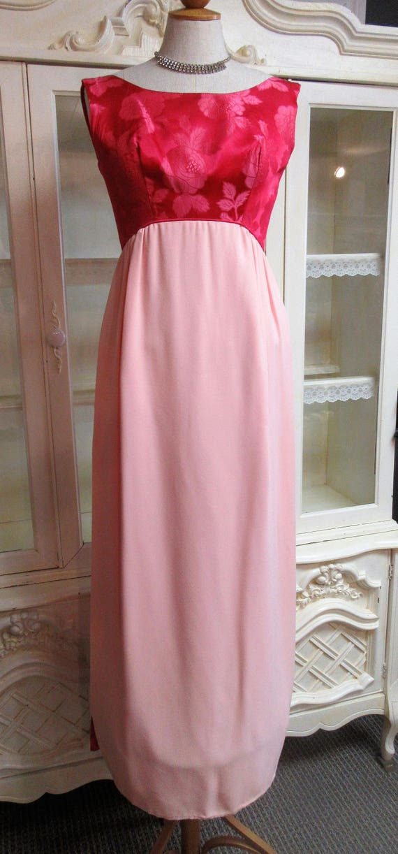 1960s Prom Bridesmaid Dress with train - image 3