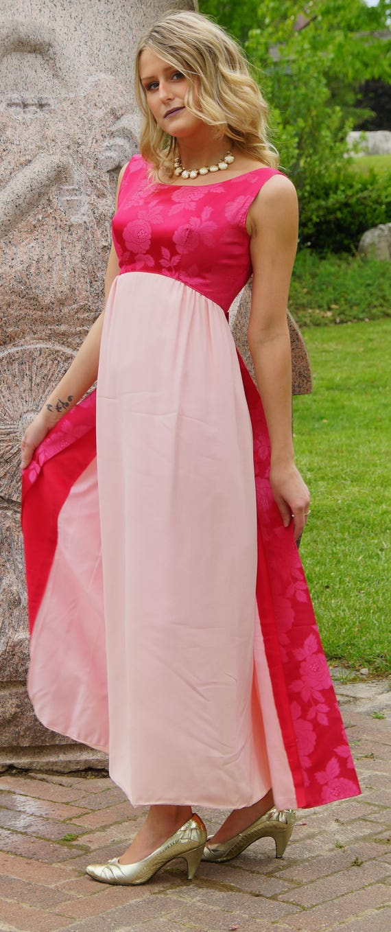 1960s Prom Bridesmaid Dress with train