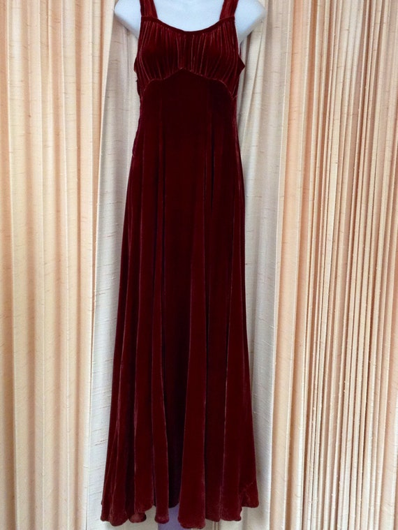 1930s Silk Velvet Gown with Jacket - image 2
