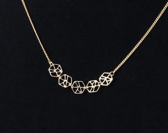 Mineral 5 Necklace, Minimalist, Geometric necklace, Vayu