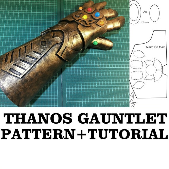 diy infinity thanos gauntlet cosplay fun pattern printable etsy