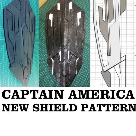 photo about Captain America Shield Printable named Fresh Captain The us Guard Cosplay Practice Printable Template Prop Black Panther Cap Infinity War Secure Video Influenced