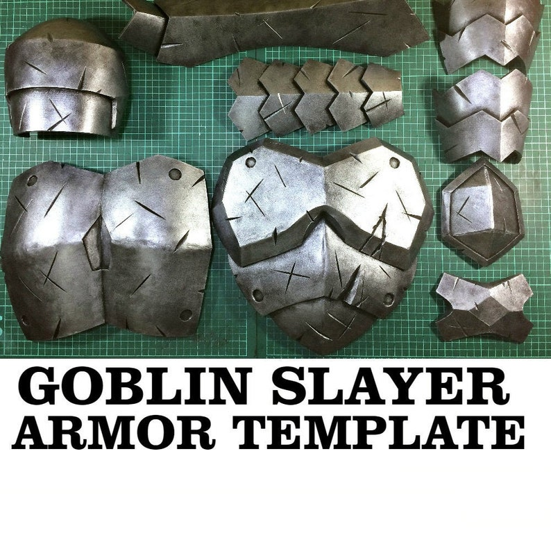 Goblin Slayer Full Armor Template Cosplay Costume Helmet Shield Anime Printable Pattern Eva Foam