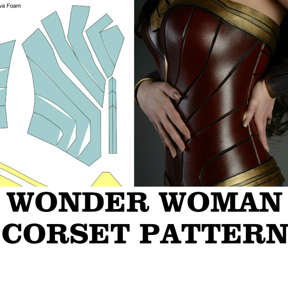 Wonder Woman Pattern Corset Template Costume Cosplay -9178
