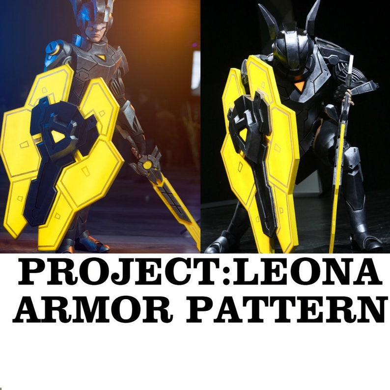 Leona Project Cosplay Armor PDF Pattern Costume Eva Foam Printable Template  Blueprint Game Lol cosplay inspired League of Legends