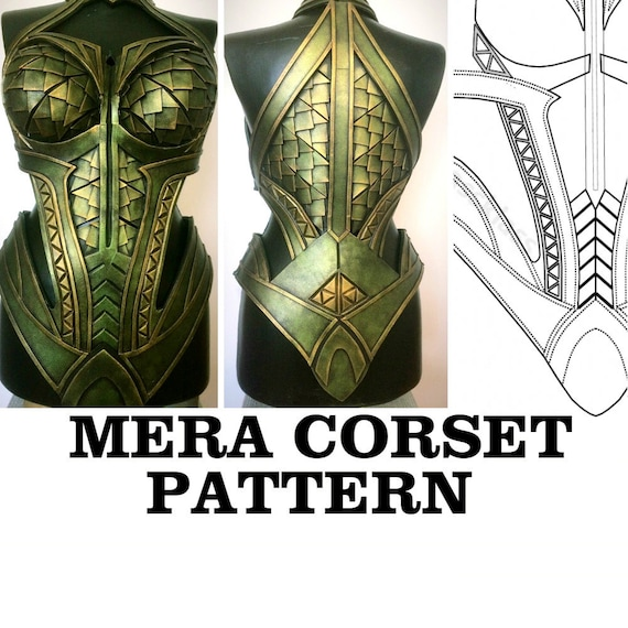 Mera Corset Cosplay Pattern Breastplate Template Costume Eva Etsy