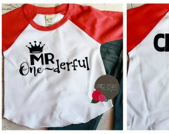 Mr Onederful Shirt Boys 1st Birthday Boy Outfit First