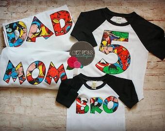 6ea2f5476dfa2 Avengers Number baseball T shirt for Boys