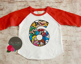 RUSH ORDER Super Mario Brothers Birthday Shirt April 4th