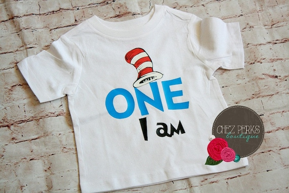 Cat In The Hat 1st Birthday Outfit Dr Seuss Shirt