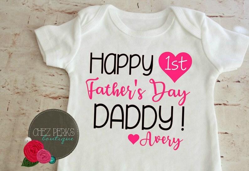 cfe36dfe Happy Fathers Day Onesie girls Fathers Day Bodysuit Baby | Etsy