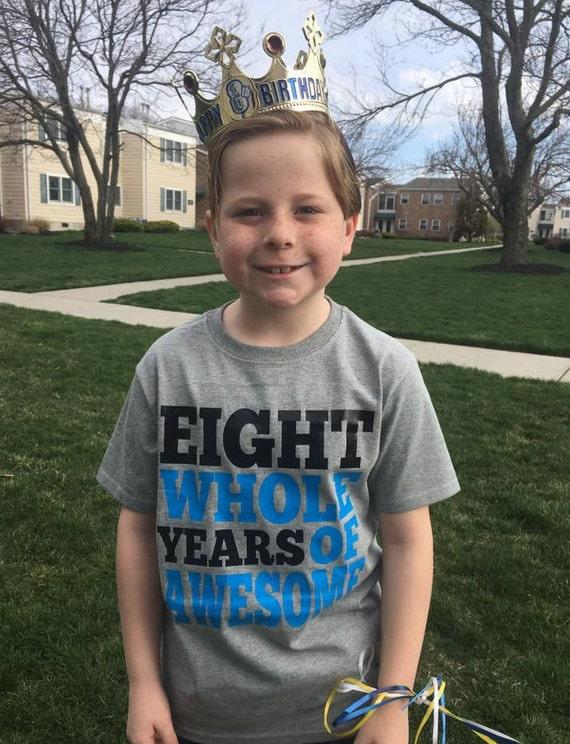 8 Year Old Birthday Shirt Eight Boy