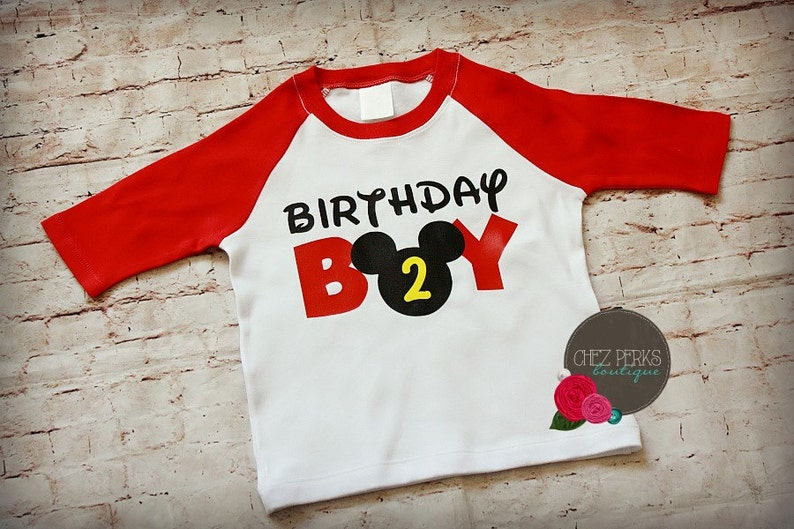 Mickey Mouse Birthday Shirt With