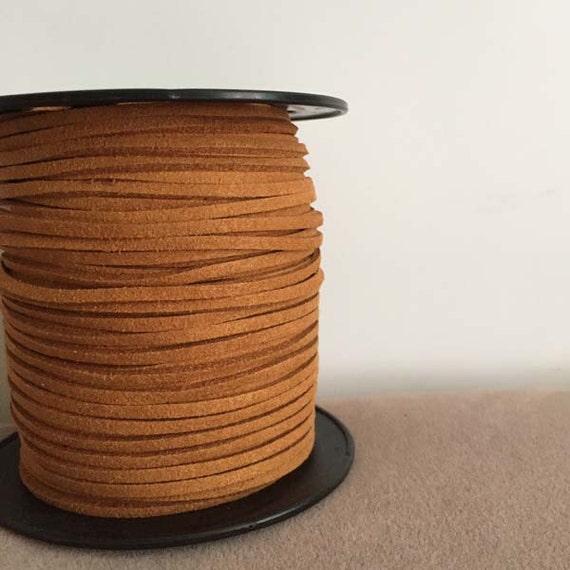872f789b28ce Cordón de cuero de gamuza sintética, luz marrón Suede cordón, cuerda del  ante del Faux, ante la cuerda cuerda, cordón de ante de la joyería, ...