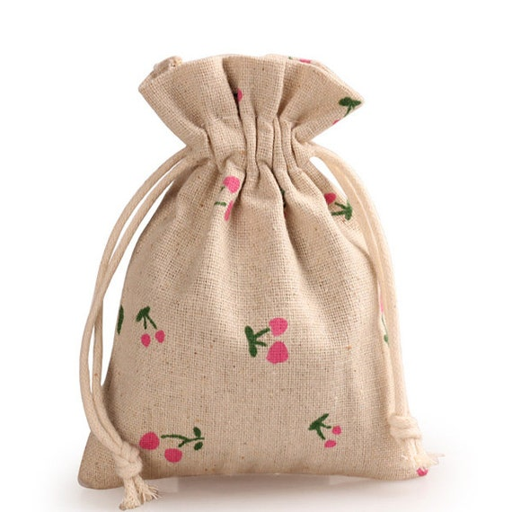 10pcs Burlap Bags Jute Drawstring Jewelry Gift Bags Sack Pouch for Party