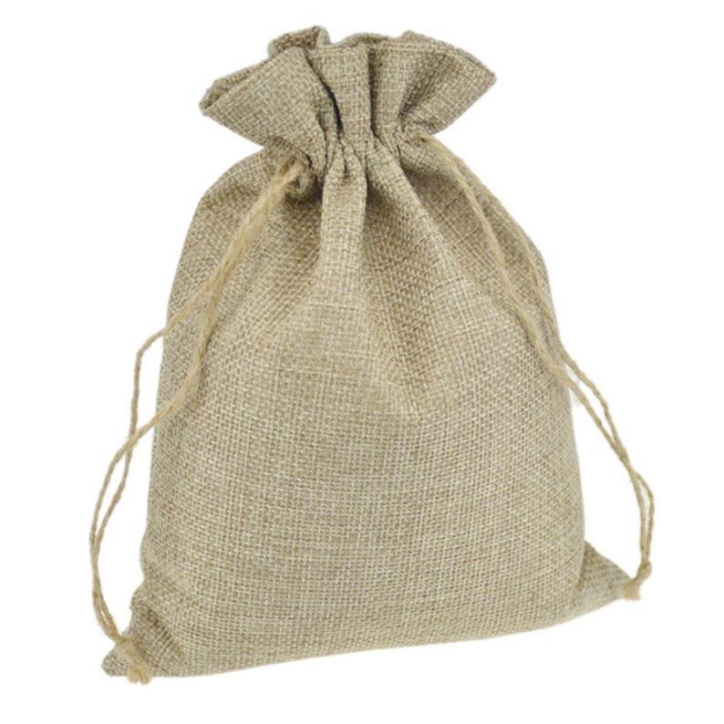 6eaca1fe7 Boda rústica yute bolsas bolsa de Favor gracias cordón | Etsy
