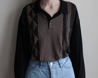 Cozy Collared Sweater with Pocket