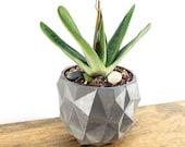 Concrete Planter Geometric Triangles - Modern Decor - Indoor Outdoor Planter - Succulent Cactus Planter Candle Holder - Gardening Gift Idea