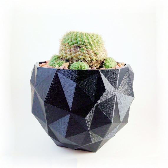 Imprimée en 3D géométrique planteur - vase pour plante grasse ...