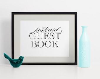 POSTCARD Guest Book, Guest Book Alternatives, Wedding Guest Book Idea, Guest Book Wedding, Guest Book Ideas, Wedding Guest Book Alternatives