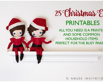 Elf Printable Bundle, Elf Printable Kit, 25 days of Elf Ideas, Over 25 Elf Ideas, Elf 1 month ideas, Elf Printables, Elf Kit, Christmas Elf