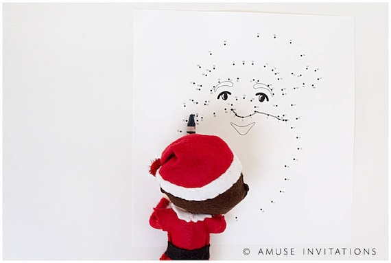 Christmas Connect.Christmas Connect The Dots Elf Connect Dot Christmas Elf Accessories Santa S Elf Prop Elf Printable Christmas Elf Ideas Easy Elf Ideas