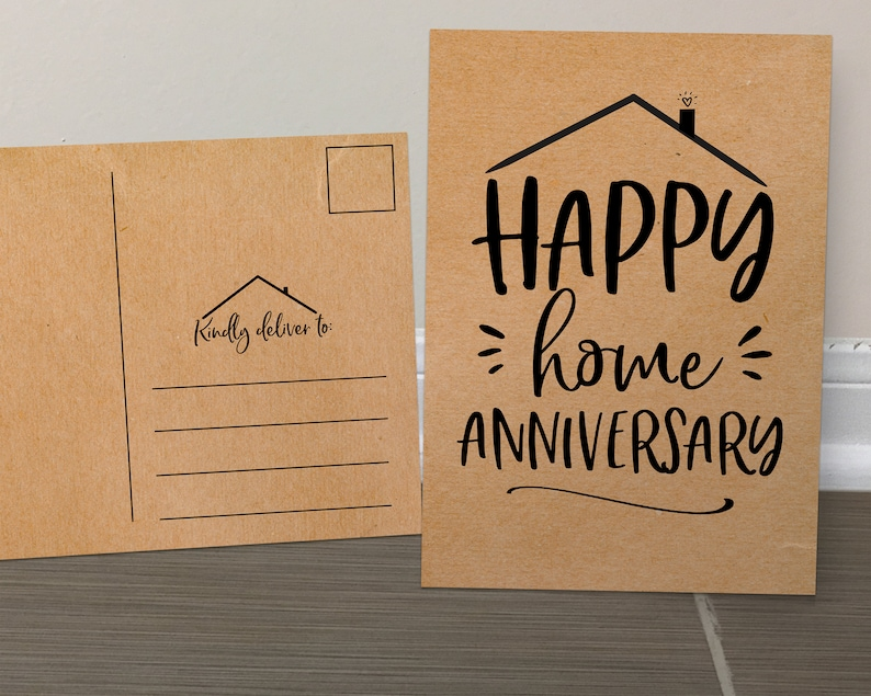 Home Anniversary, Realtor Cards, Set of Cards, New Home, Real Estate  Postcard, Handmade Cards, Anniversary Cards