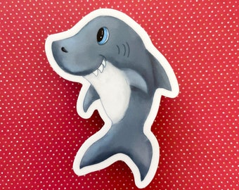 Shark sticker - 3x3 in sticker baby shark