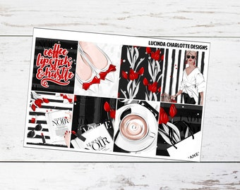 Items similar to Stickers Beauty & Getting Dressed – 2 sheets