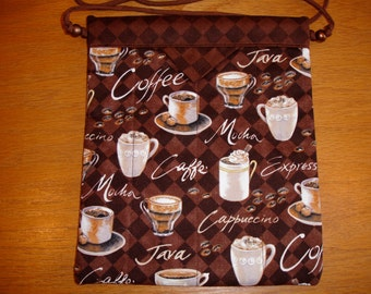 Coffee, Java, Mocha, Cappuccino That Describes this Darling Cross Body Snap Bag, Perfect Gift Idea, Handmade, Bags & Purses