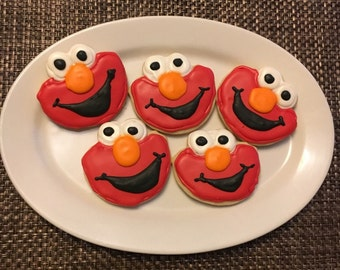 Elmo Sugar Cookies