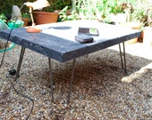 Raw CONCRETE COFFEE TABLE 14 Inches Tall