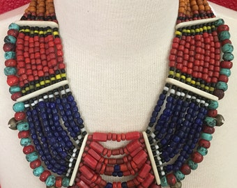 Multi strands tribal necklace...
