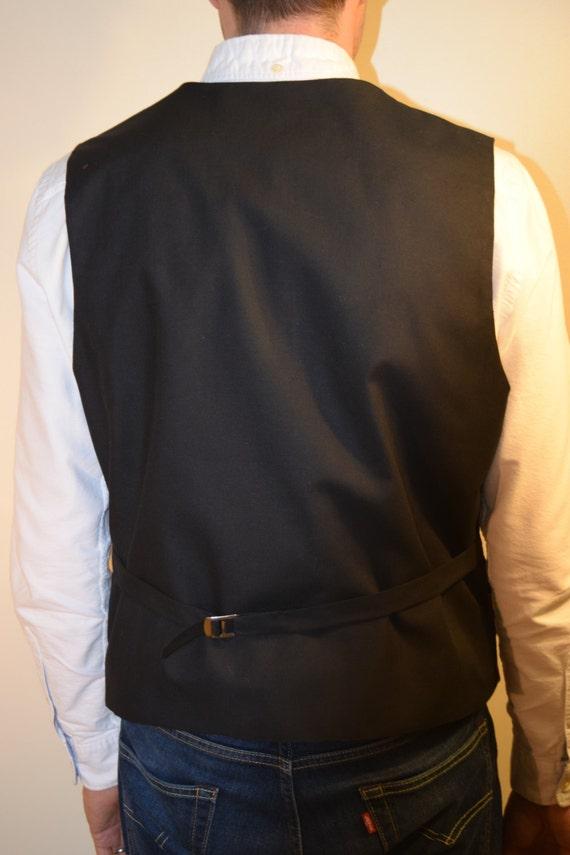 Men/'s waistcoatVest made with Batman logo fabric