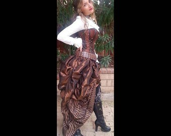 Steampunk Victorian Style Dresses with Sleeves