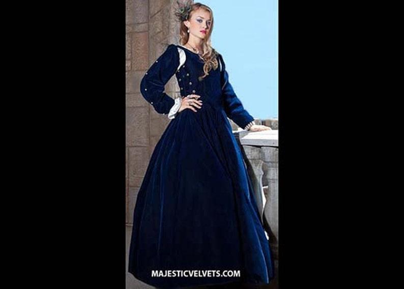 1d64f3297abe0 Renaissance Medieval NAVY Blue Velvet