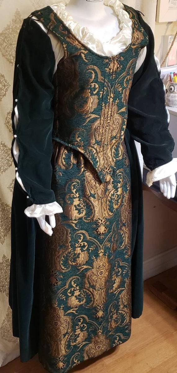 Velvet Bodice for Renaissance Victorian Dickens Coplay Festivals