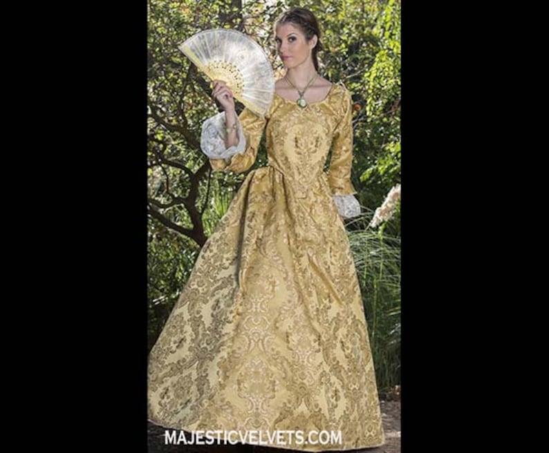 79d9c82ceb3 Yellow gold Elizabeth Swann 18th c Dress Halloween Renaissance