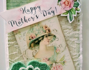 Mothers Day Card/Mom Card/3D card/Pop up card/box card/Scrapbook/DIY/Greeting Card/Gift for mom/ Gifts ides/daughter love/mom-grandma love