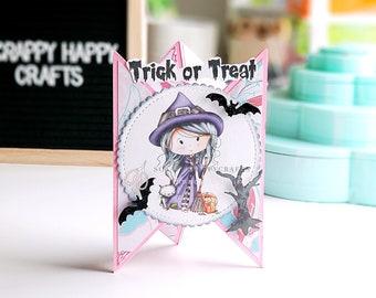 Halloween Card / Blank Halloween Card / Halloween Party Invitations/ Witch Cats/ Cat Women / Spooky Mummy Eyes/ Hanging Bats/ Boo! / Skulls