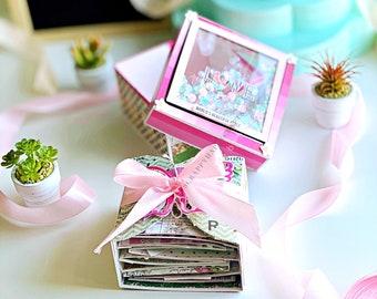 Floral Mini album / Interactive Mini album / Scrapbook / Flower Theme / Shaker Lid / Butterfly Gatefold Mini album / Pop Up Album