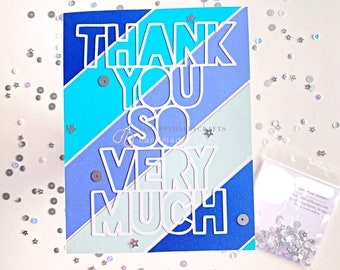 Thank you card   Handmade gift   Note card   Thanks card   Thank you gift   Card for her   Card for him   Thank you greeting card