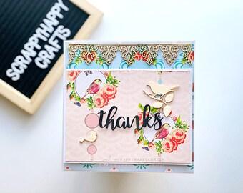 Pop up Card   Thank you Card   Floral Card   Thanks   Bird Lover Card   Interactive Pop Up Card   Thank You Greeting Card   Handmade Card