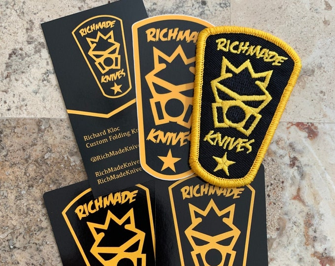 RichMade Logo Patch & Sticker Pack